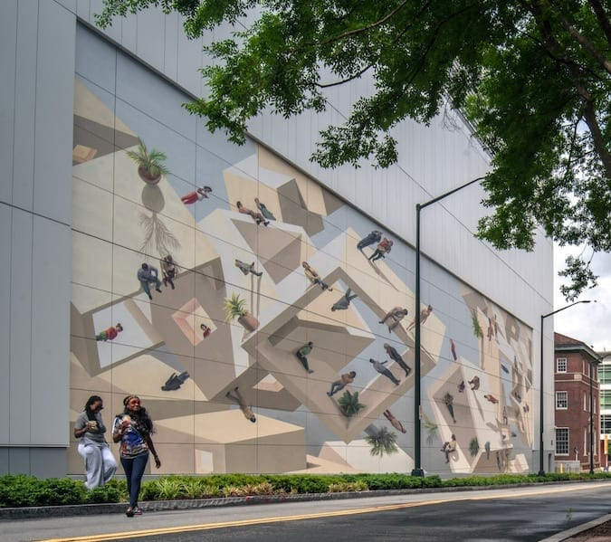 Coda Tech Square mural june 2021