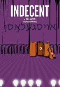 "Poster art for Theatrical Outfit's 2020 staging of ""Indecent."""