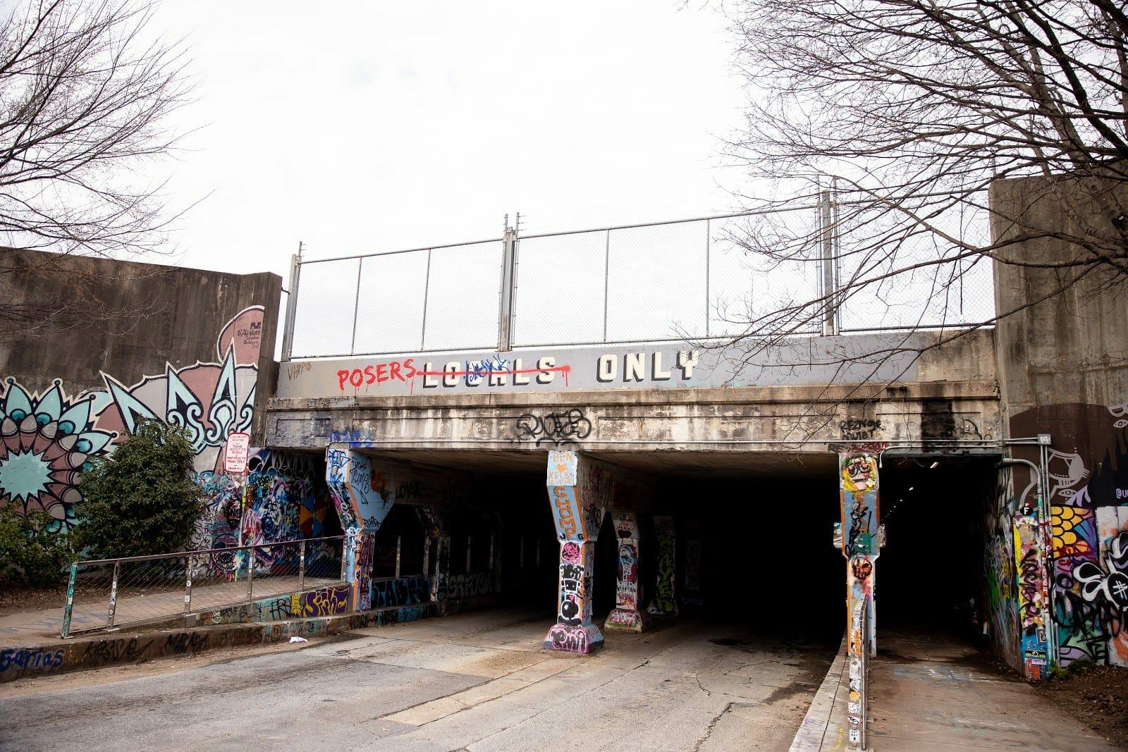 The Krog Street Tunnel in Cabbagetown.
