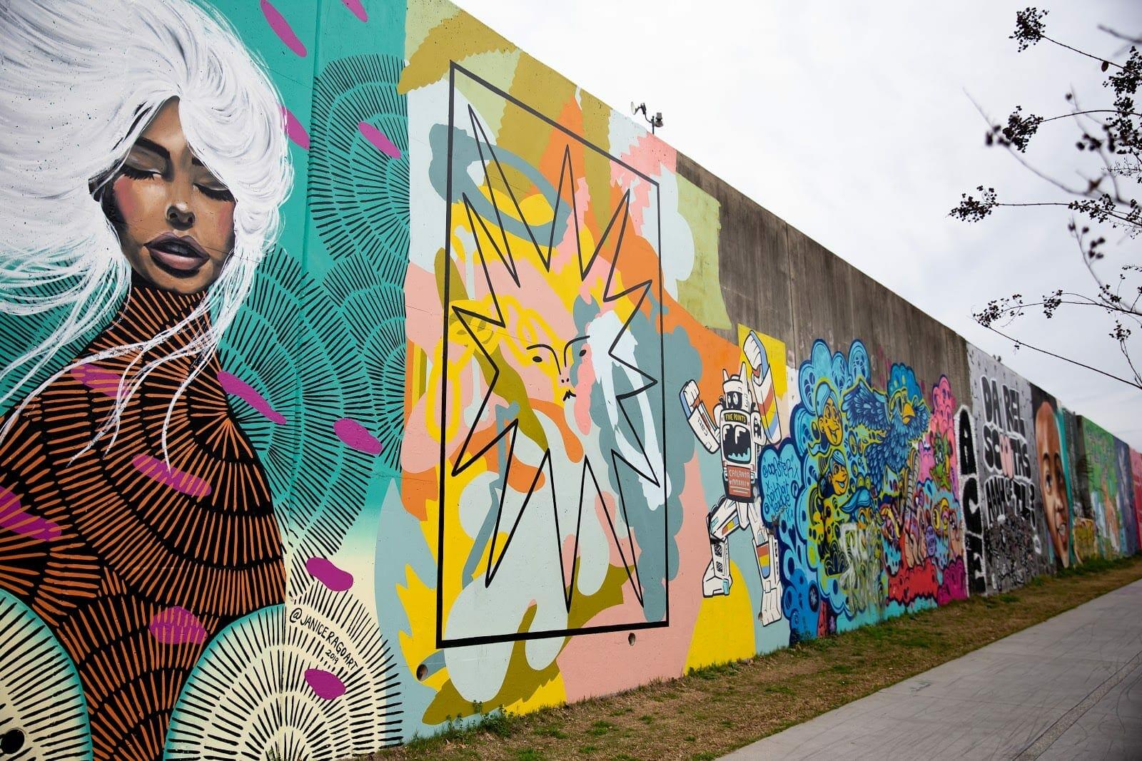 Forward Warrior murals in Cabbagetown.
