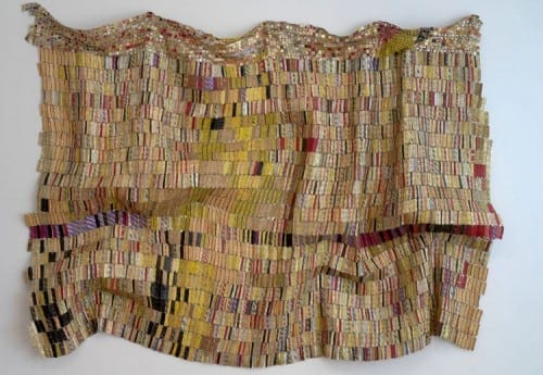 El Anatsui: Taago, 2006, aluminum and copper wire, 82 x 124 inches. Purchase with funds from the Fred and Rita Richman Special Initiatives Endowment Fund for African Art and Joan N. Whitcomb.