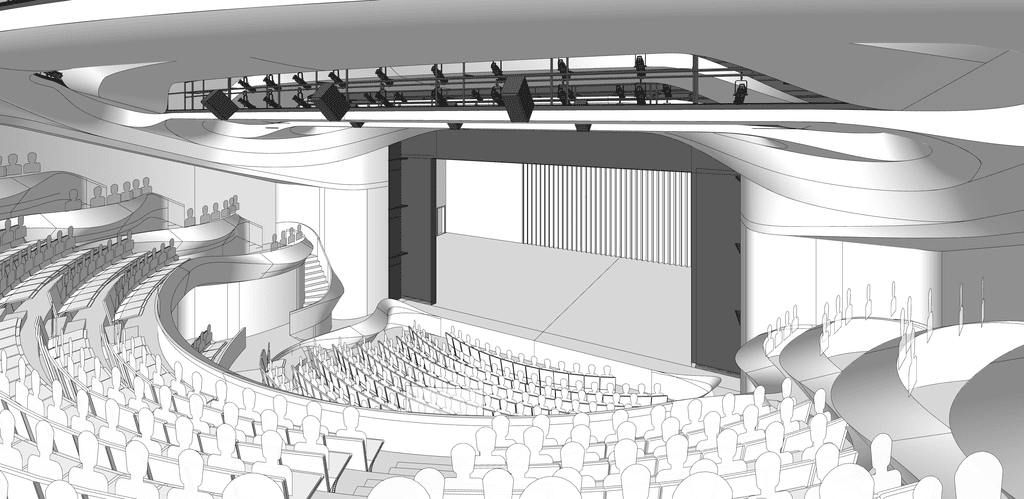 The design for the new Alliance is intended to connect the performers with the audience.