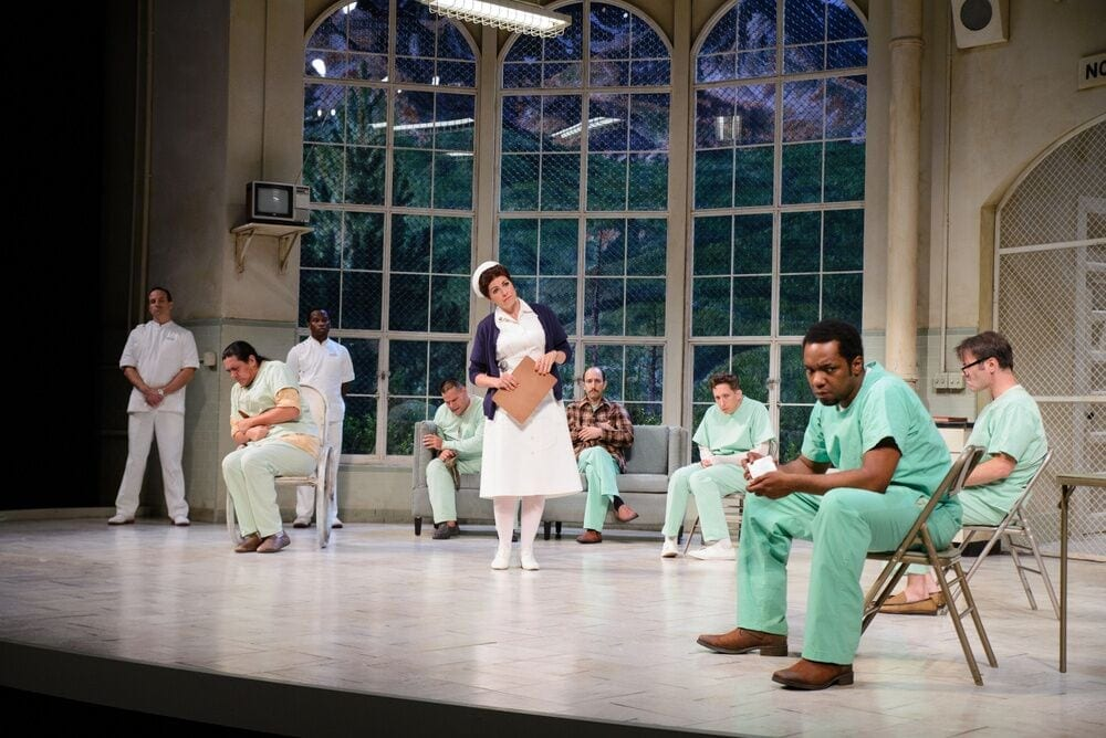 Tess Malis Kincaid (center) and Neal Ghant in One Flew Over The Cuckoo's Nest. (Photos by Greg Mooney)