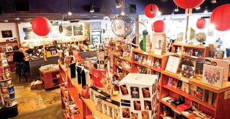 Inside Outwrite, once a hub for gay literary life.