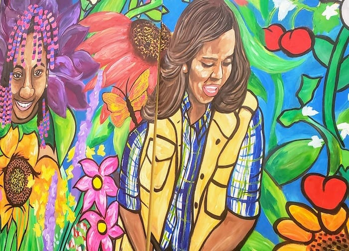 Ashley D. Thomas Obama mural.