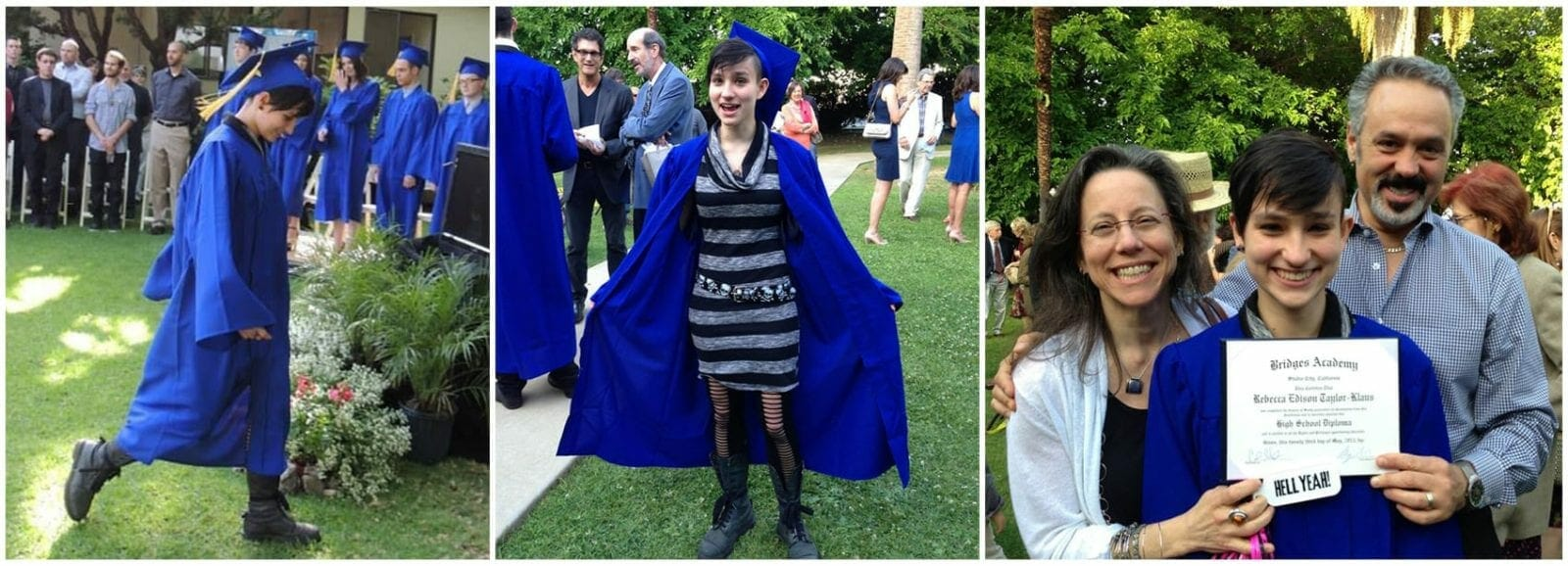 Bex Taylor-Klaus at her high school graduation.