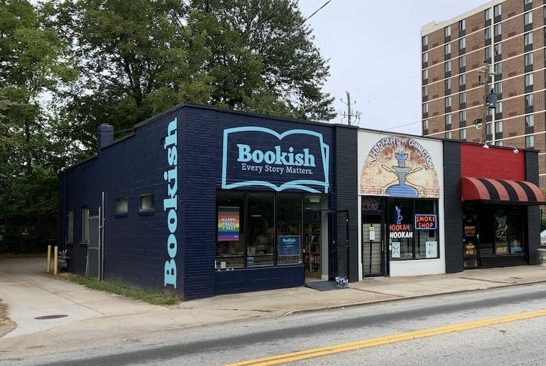 Exterior photo of the Bookish book shop in East Atlanta Village.