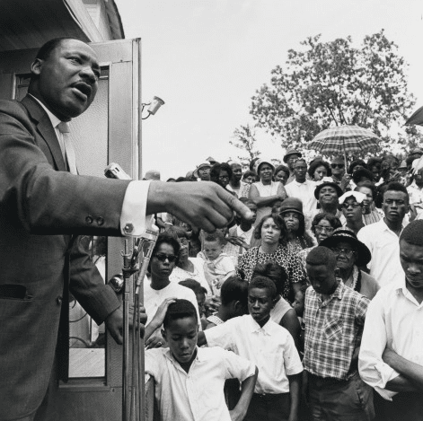 "Noted civil rights movement photographer Bob Adelman's images of Dr. Martin Luther King Jr., are hallmarks of the High's ""Road To Freedom"" series from 2008."