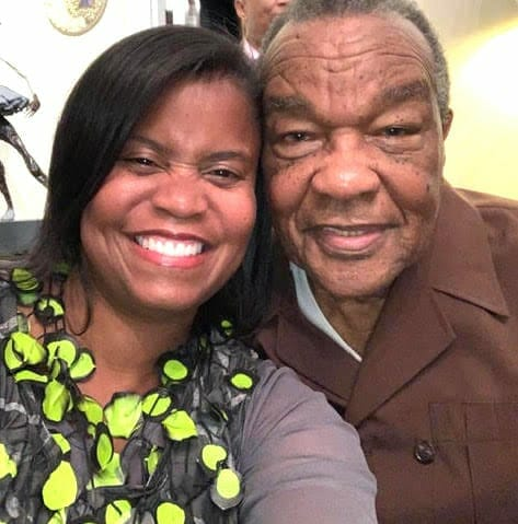 Andrea Brownlee (pictured with David C. Driskell, who she considered a mentor)
