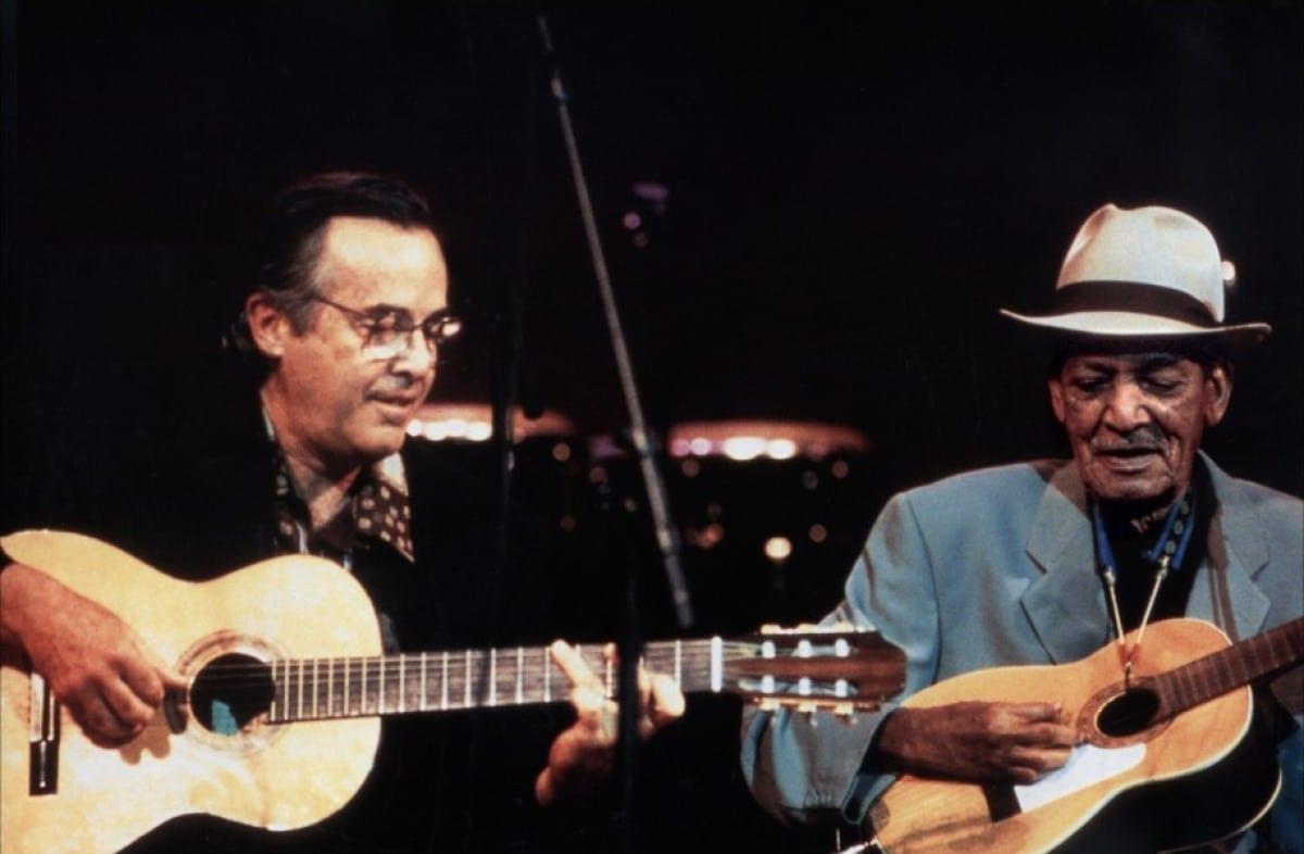Legendary guitarist Ry Cooder (left) reunites Cuban musicians in Buena Vista Social Club.