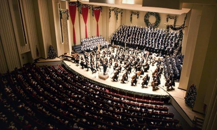 A full crowd at Atlanta's Symphony Hall.