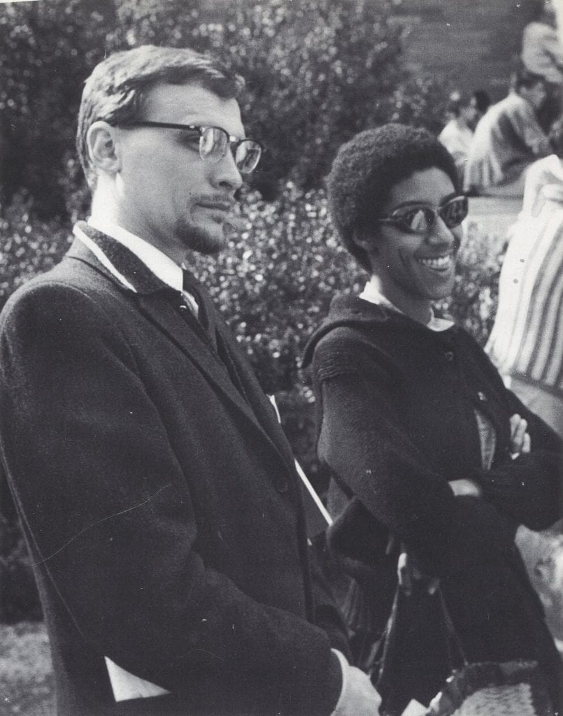 James V. Hatch and Camille Billops on the UCLA campus, 1960. Credit: Camille Billops and James V. Hatch Archives at Emory University.