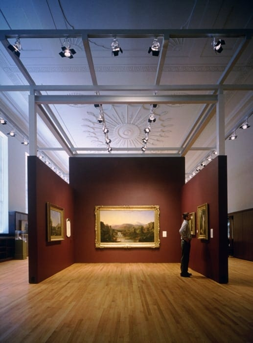 Tine Dunkley spearhead a gallery renovation by Mack Scogin Merrill Elam Architec ts prior to the 1996 Olympics.
