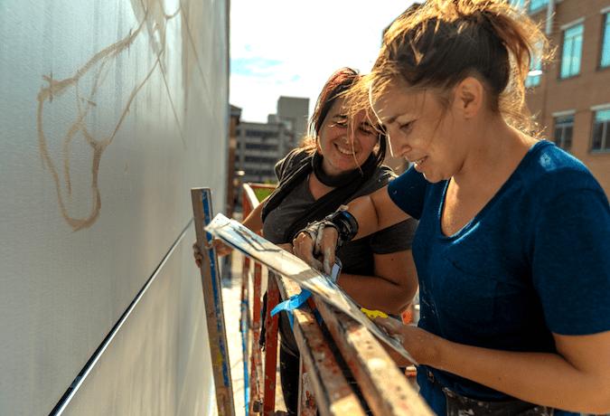 Coda Square mural june 2021