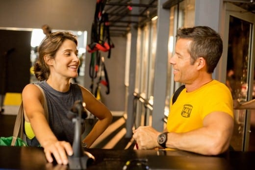 Cobie Smulders and Guy Pearce in Results.  Photo courtesy of Magnolia Pictures. (Photo by Ryan Green)