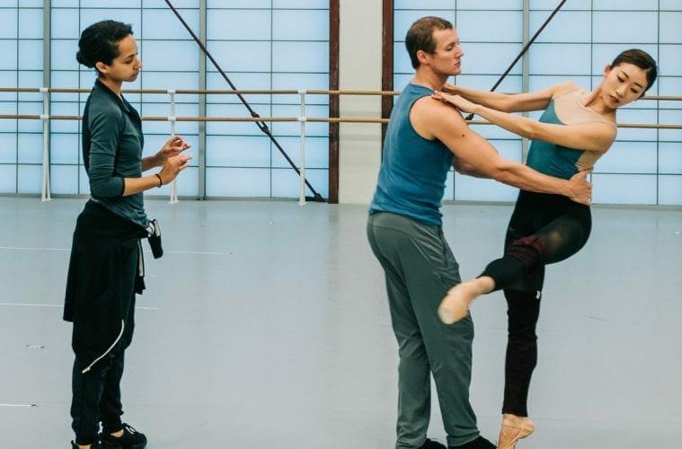 Claudia Schreier with Atlanta Ballet dancers.