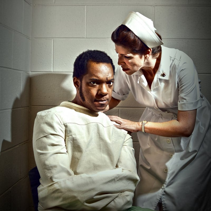 Neal A. Ghant and Tess Malis Kincaid in One Flew Over the Cuckoo's Nest.