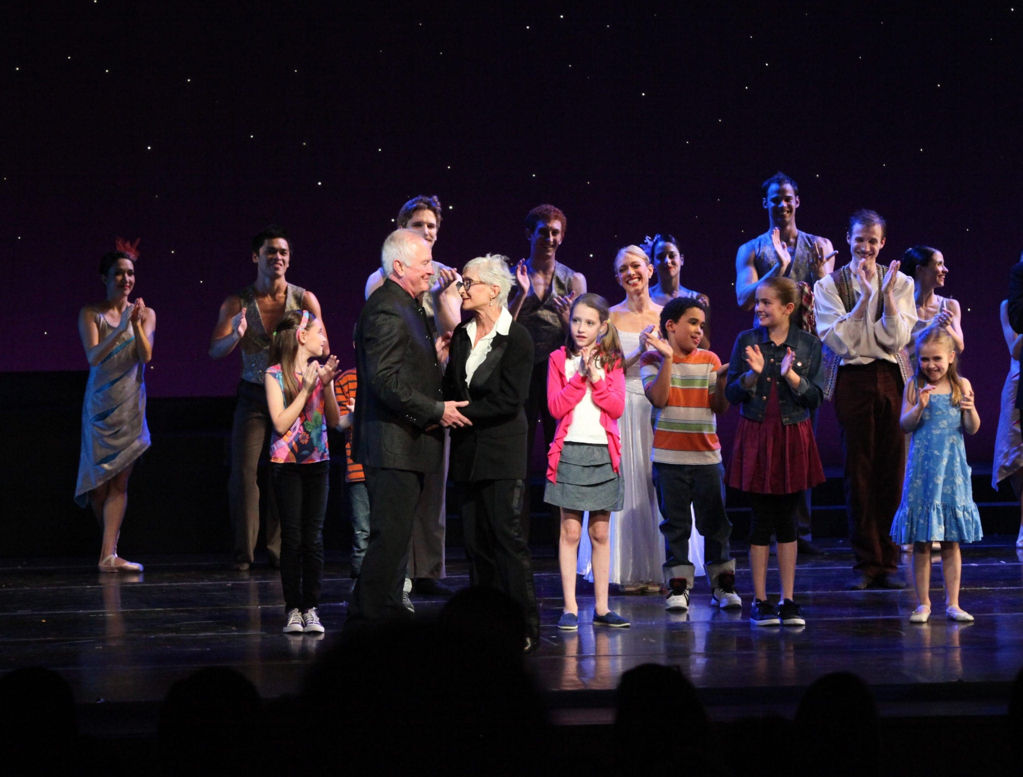 McFall and Tharp at the curtain call for The Princess and the Goblin. (Photo by Charlie McCullers)