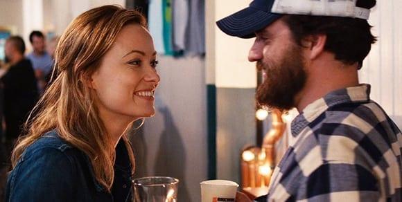 Olivia Wilde and Jake Johnson in Drinking Buddies.