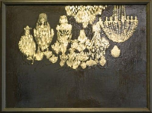 "E.K. Huckaby: ""Stars of the Western Hemisphere,"" 2011. Powdered glass and varnish on panel."
