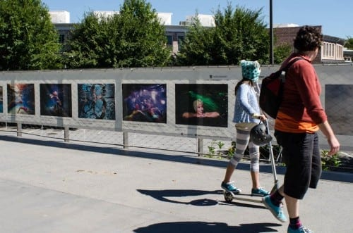 The Fence is a 600-foot-long photomural on The BeltLine. (Photo by  Virginie Kippelen @ 2014)