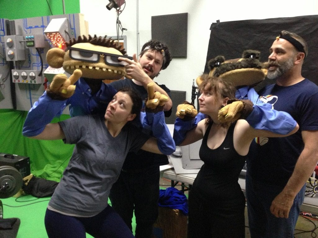 """The puppeteers for """"Monkey Brains"""" include (left to right): Beau Brown, Keira Robbins, Tara Clark, Lee Bryan."""