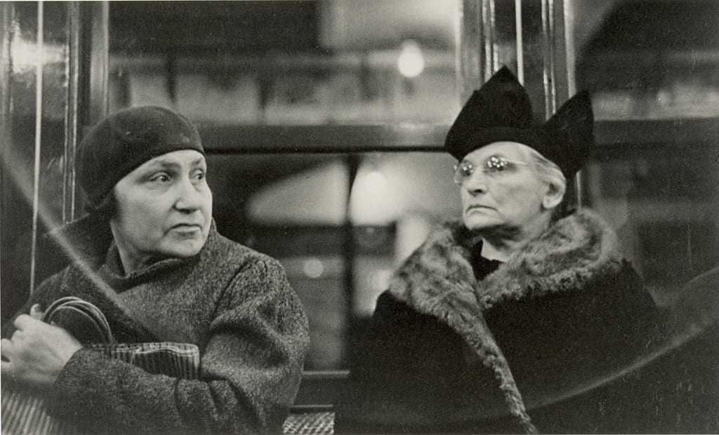"Walker Evans (American, 1903–1975). ""Subway Portrait"" (1938). Gelatin silver print, 4 1/4 x 7 inches. Purchase with funds from the Atlanta Foundation, image courtesy the High Museum of Art Atlanta."