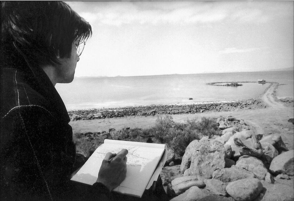 Smithson at Great Salt Lake.