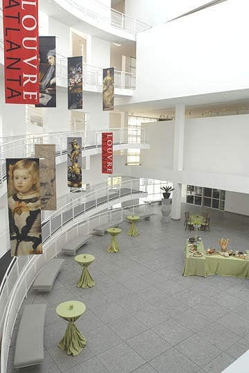 The High Museum's atrium, in banquet configuration.