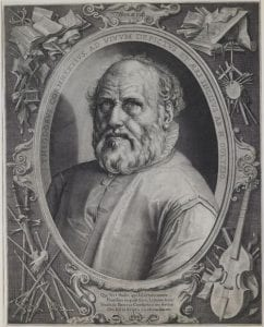 Engraved portrait of Hendrick Goltzius by Jan Muller, 1617