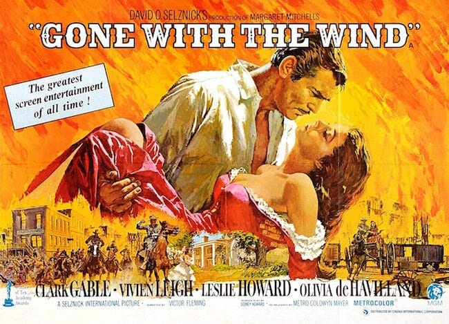 """""""Gone With the Wind"""" movie poster"""
