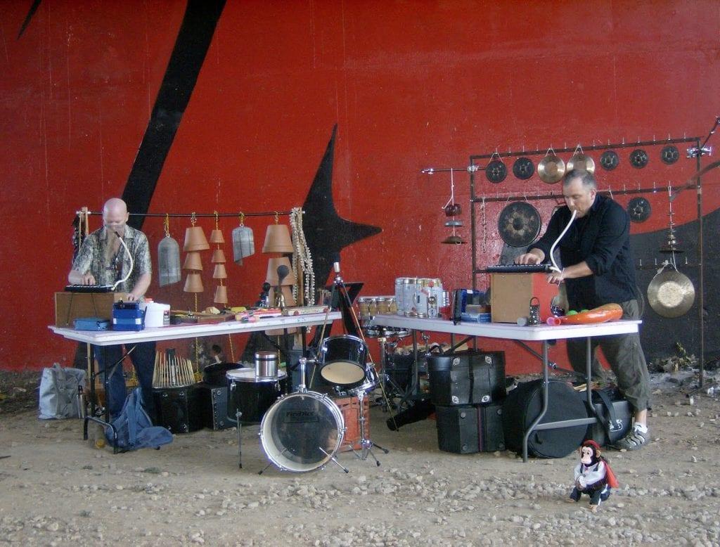 Gerber improvising with Klimchak. (Photo by Mark Gresham)