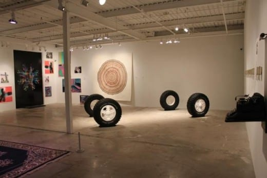 Installation view of Portalism