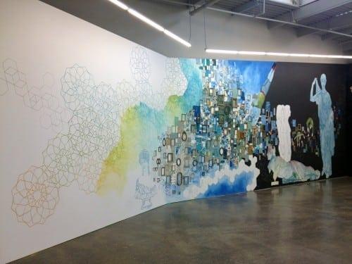 Installation by Dayna Thacker, Lillian Blades, and Faith McClure. Courtesy Atlanta Contemporary Art Center.