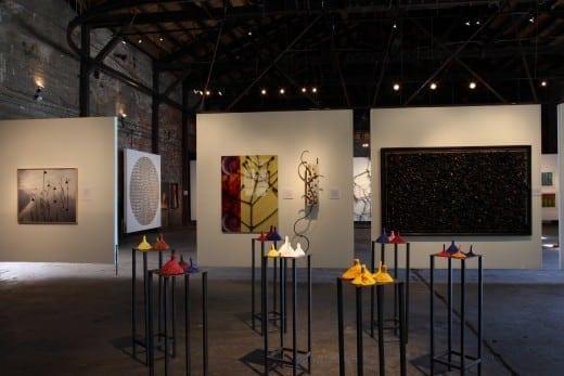 From left, works by Lucinda Bunnen,  Troy Dugas, Linda Armstrong,Dana Montlack, Justin Rabideau, Pam Longobardi, Jacqueline Bishop,