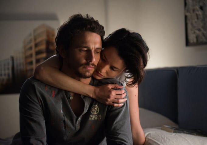 "James Franco and Loan Chabanol in ""Third Person."""