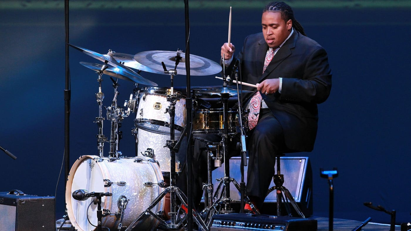 Ross performs at the Thelonious Monk International Jazz Drums Competition in 2012.