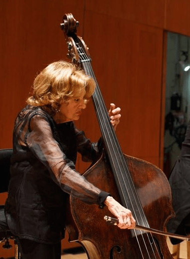 Little was smaller than her double bass.