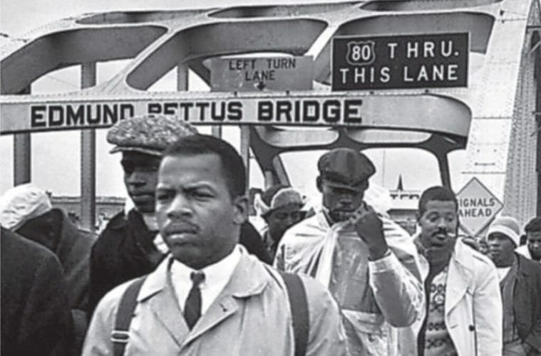 John Lewis in his activist days in the 1960s.