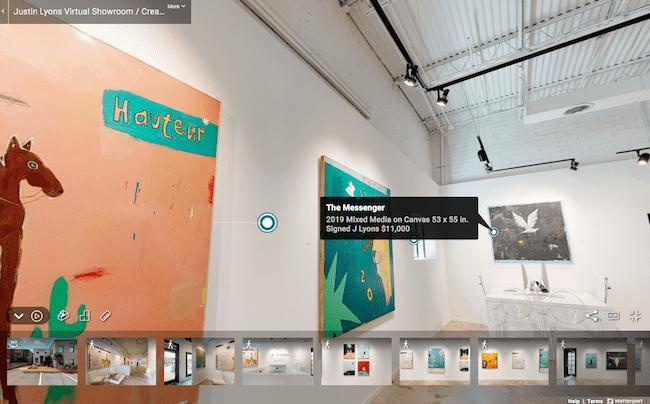 Justin Lyons virtual show at Maune Contemporary July 2020