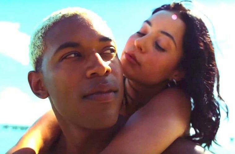 "Kelvin Harrison Jr. and Alexa Demie in ""Waves."""