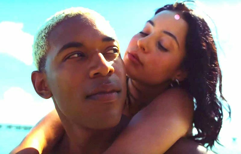 "Kelvin Harrison Jr. and Alexa Demie in ""Waves."""