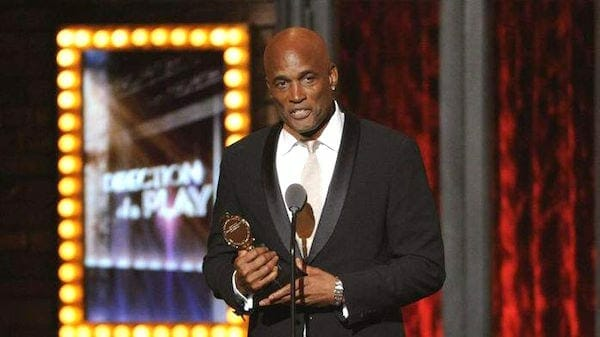 Kenny Leon accepts Tony Award in 2014.