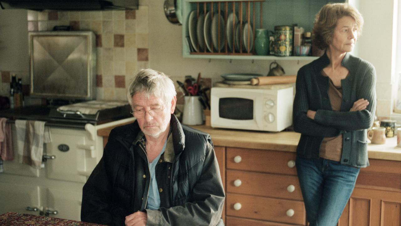 Tom Courtenay and Charlotte Rampling play a couple strangled by their secrets.
