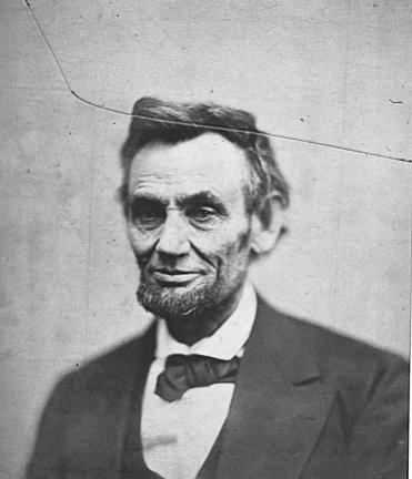 A portrait of President Abraham Lincoln, courtesy the National Parks Service.
