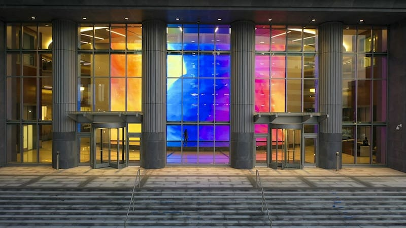 The riot of color at Legacy Union in Charlotte, North Carolina.