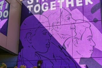 STRONGER TOGETHER mural Oct 2020