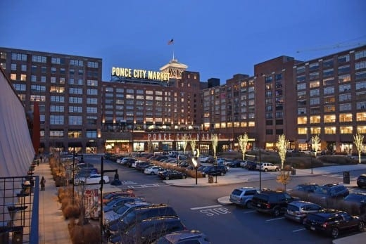 Ponce City Market from North Avenue. (All photos by David Hamilton)