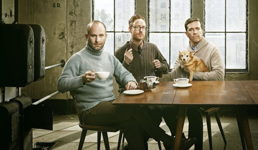 The Lonesome Trio: Ian Riggs, Jacob Tilove and Ed Helms