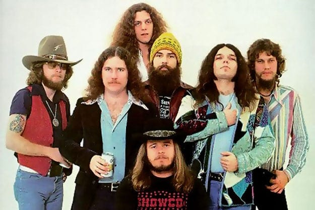 The Lynyrd Skynyrd line-up at the band's peak of popularity.